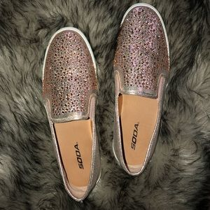 Pink Bedazzled Sneakers